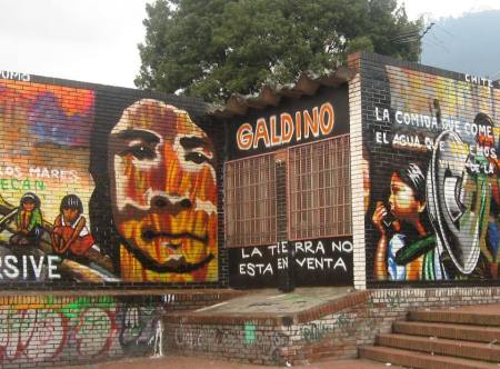 IR mural by Chite Yarumo  in Bogota , Colombia to honour Galdino.