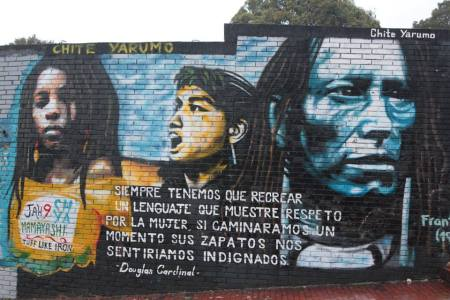 IR mural in Candelaria ,Bogota,Colombia.